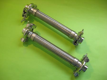 食品プラント配管や食品機械に使われるフェルール付フレキシブルチューブ