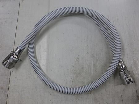 レバーカップリングが付いたスプリングで補強したテフロンコンボリュートホース