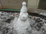 フレキシブルチューブを使った雪だるま