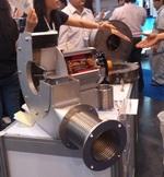 バンコク国際展示センターの展示会に出展された送風機のベローズ
