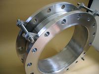 真空用に使われる内筒スライド式400Aベローズ伸縮管