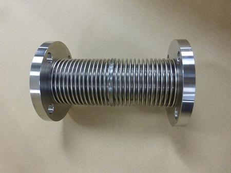 900℃のガス配管に使われるインコネル製ベローズ伸縮管