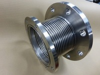JIS10K溝付きフランジと真空用VGフランジ付のベローズ伸縮管